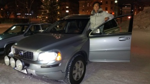 He still had time to take picture with the XC90!